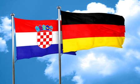 bandera de croacia: Bandera de Croacia con la bandera de Alemania, 3D Foto de archivo