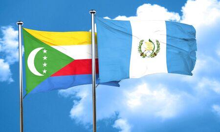 bandera de guatemala: Bandera de los Comoro con la bandera de Guatemala, representaci�n 3D