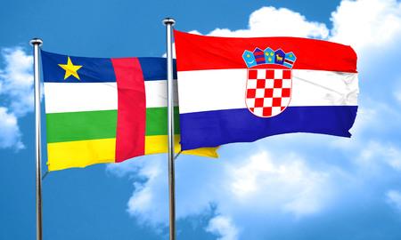 bandera croacia: bandera de la República Centroafricana con la bandera de Croacia, 3D Foto de archivo