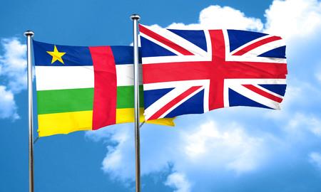 bandera de gran bretaña: bandera de la República Centroafricana con la bandera de Gran Bretaña, 3D Foto de archivo