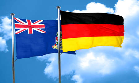 cayman: cayman islands flag with Germany flag, 3D rendering