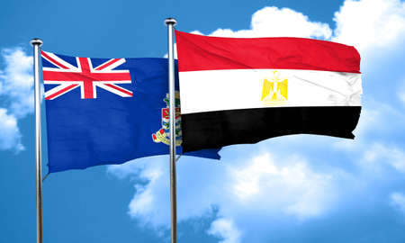 bandera egipto: bandera de las islas caim�n con la bandera de Egipto, 3D