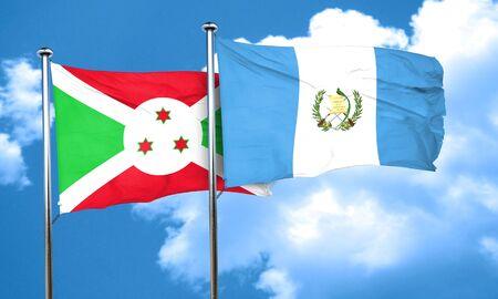 bandera de guatemala: bandera de Burundi con la bandera de Guatemala, 3D Foto de archivo
