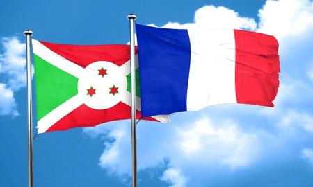 burundi: Burundi flag with France flag, 3D rendering Stock Photo