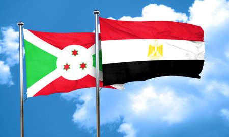 bandera de egipto: bandera de Burundi con la bandera de Egipto, 3D