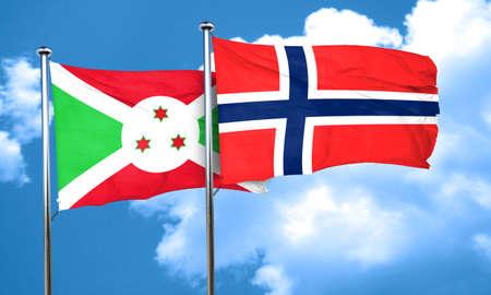 norway flag: Burundi flag with Norway flag, 3D rendering Stock Photo