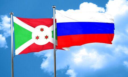 bandera rusia: bandera de Burundi con la bandera de Rusia, 3D