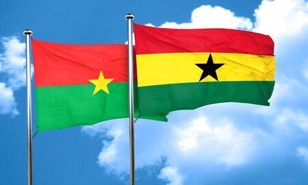 ghanese: Burkina Faso flag with Ghana flag, 3D rendering Stock Photo