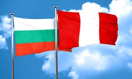 bandera de peru: Bandera de Bulgaria con la bandera de Perú, 3D