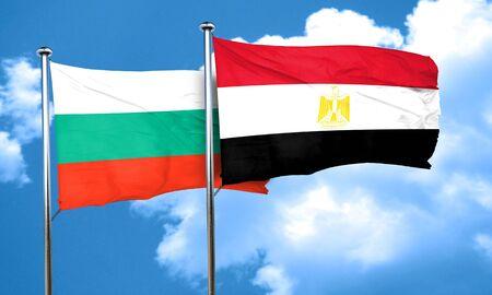 bulgaria: bulgaria flag with egypt flag, 3D rendering Stock Photo