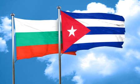 cuba flag: bulgaria flag with cuba flag, 3D rendering Stock Photo