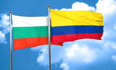 bandera de colombia: Bandera de Bulgaria con la bandera de Colombia, 3D Foto de archivo