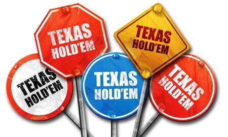 holdem: texas holdem, 3D rendering, street signs