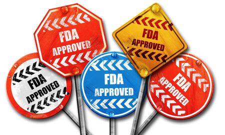 fda: FDA approved background with some smooth lines, 3D rendering, street signs