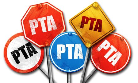 pta, 3D rendering, street signs Stock Photo