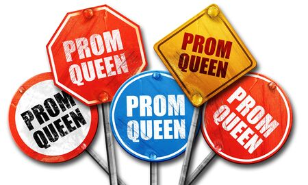prom queen: prom queen, 3D rendering, street signs