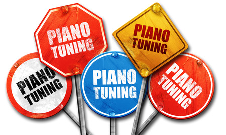 tuning: piano tuning, 3D rendering, street signs