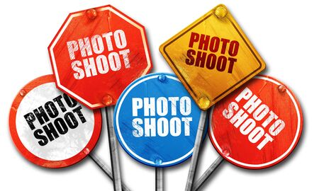 photo shoot: photo shoot, 3D rendering, street signs