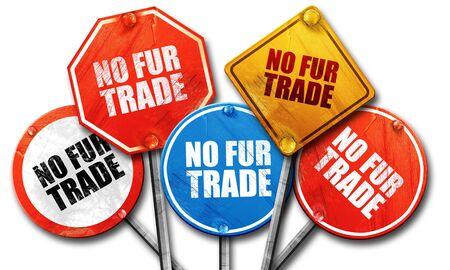and diurnal: no fur trade, 3D rendering, street signs