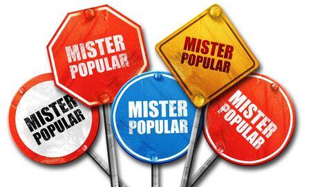 mister: mister popular, 3D rendering, street signs