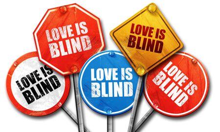 blindly: love is blind, 3D rendering, street signs
