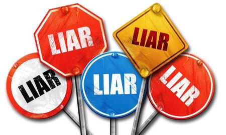 mislead: liar, 3D rendering, street signs