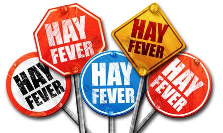 hayfever: hayfever, 3D rendering, street signs Stock Photo