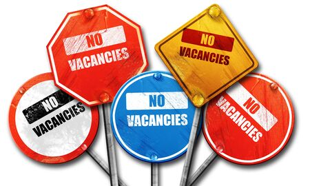 holidays vacancy: Vacancy sign for motel with some soft glowing highlights, 3D rendering, street signs Stock Photo