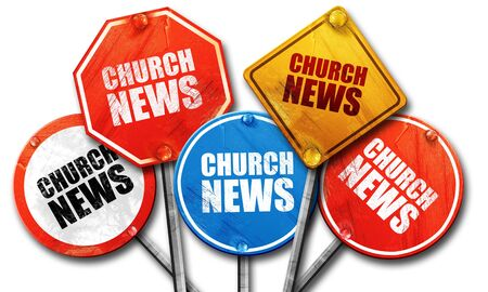 church 3d: church news, 3D rendering, street signs