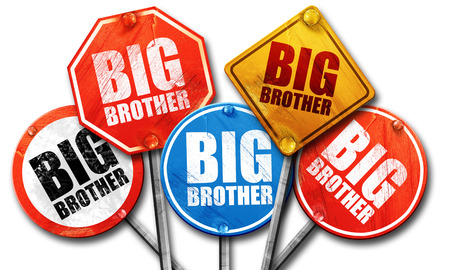 big brother: big brother, 3D rendering, street signs Stock Photo