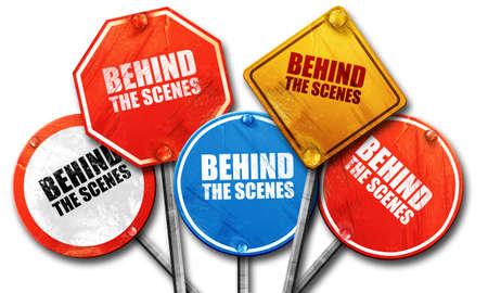 behind the scenes: behind the scenes, 3D rendering, street signs