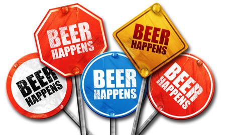 happens: beer happens, 3D rendering, street signs
