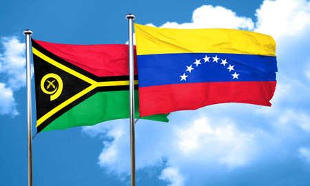 venezuela flag: Vanatu flag with Venezuela flag, 3D rendering Stock Photo