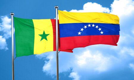 bandera de venezuela: bandera de Senegal con la bandera de Venezuela, 3D