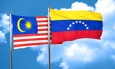 venezuela flag: bandera de Malasia con la bandera de Venezuela, 3D