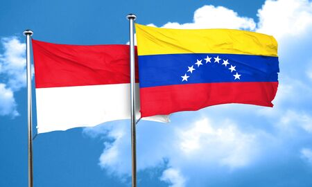 bandera de venezuela: Bandera de Mónaco con la bandera de Venezuela, 3D