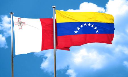 bandera de venezuela: bandera de Malta con la bandera de Venezuela, 3D