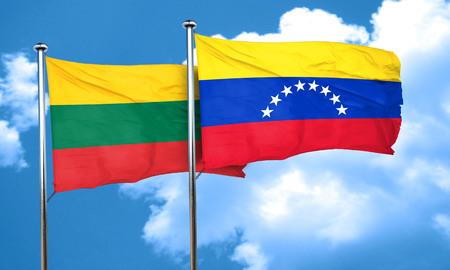 bandera de venezuela: Bandera de Lituania con la bandera de Venezuela, 3D
