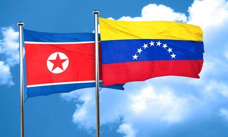 bandera de venezuela: bandera de Corea del Norte con el indicador Venezuela, 3D