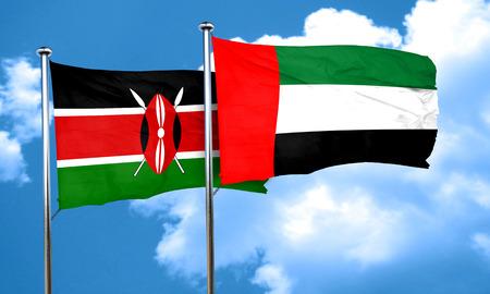 kenya: Kenya flag with UAE flag, 3D rendering