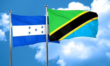 bandera de honduras: bandera de Honduras con la bandera de Tanzania, 3D