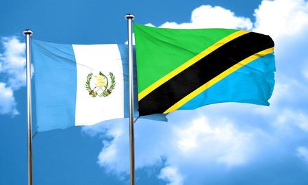 bandera de guatemala: bandera de Guatemala con la bandera de Tanzania, 3D