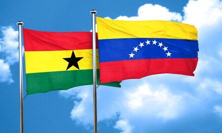 bandera de venezuela: bandera de Ghana con la bandera de Venezuela, 3D