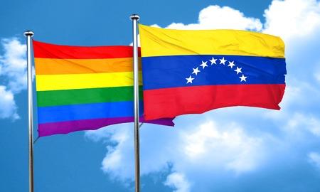 bandera de venezuela: bandera del orgullo gay de la bandera de Venezuela, 3D