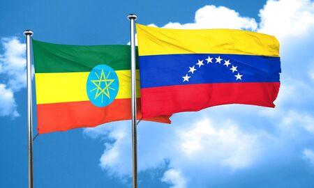 bandera de venezuela: bandera de Etiopía con bandera de Venezuela, 3D