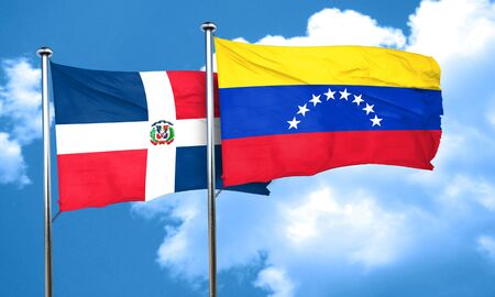 venezuela flag: bandera de Rep�blica Dominicana de la bandera de Venezuela, 3D