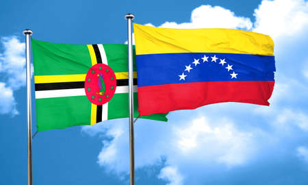 venezuela: Dominica flag with Venezuela flag, 3D rendering