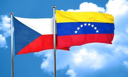 bandera de venezuela: bandera de Checoslovaquia con la bandera de Venezuela, 3D