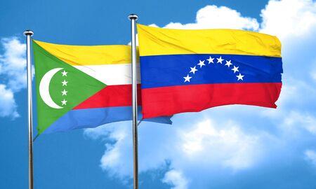 bandera de venezuela: bandera de Comoras con bandera de Venezuela, 3D