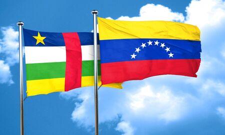 central african republic: Central african republic flag with Venezuela flag, 3D rendering